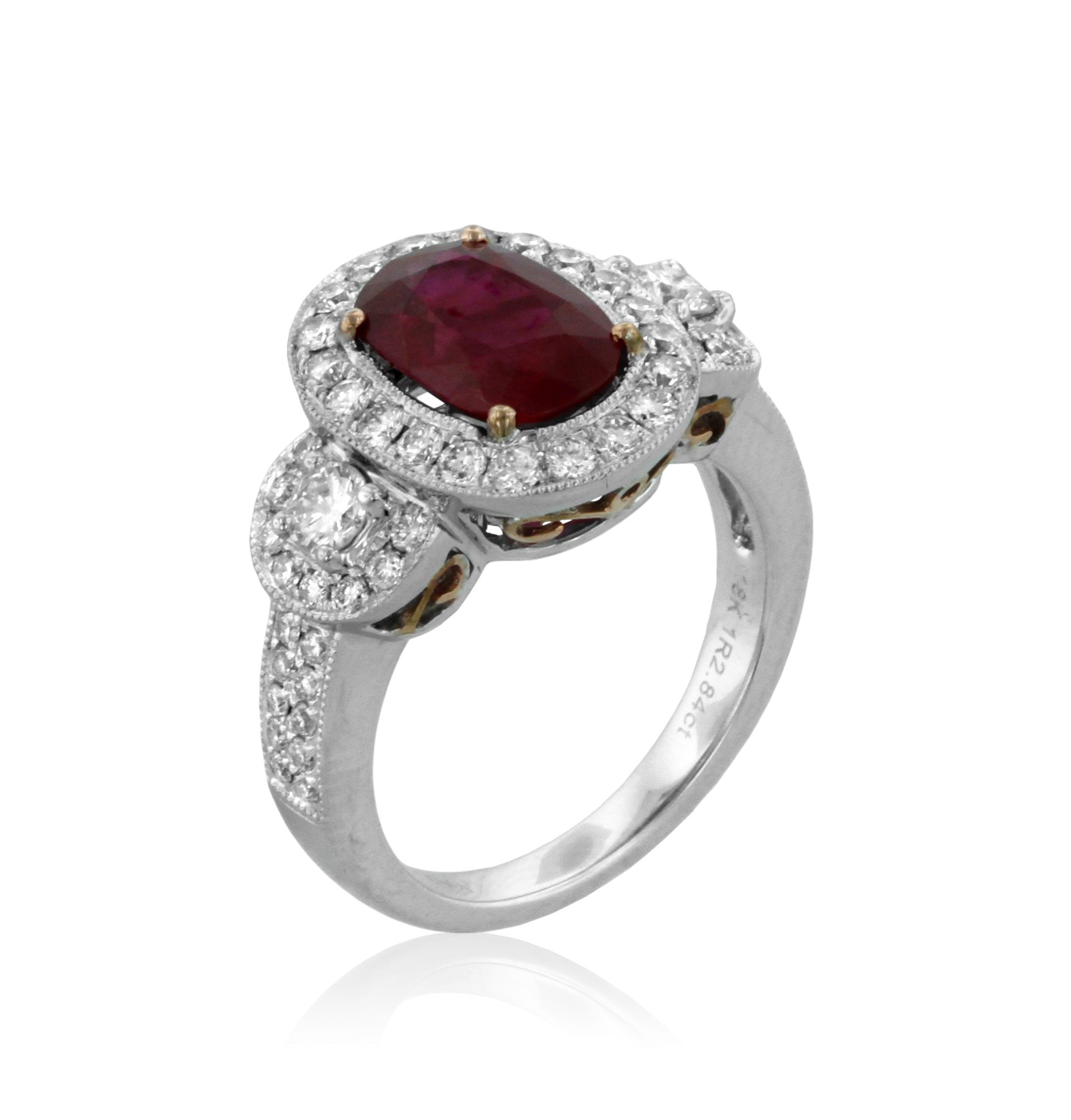 Ruby and Diamond Ring Yael Design