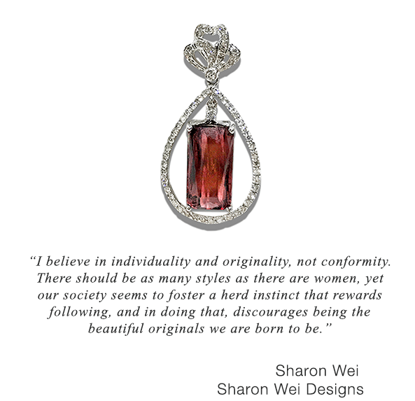 Spinel pendant from Sharon Wei Designs